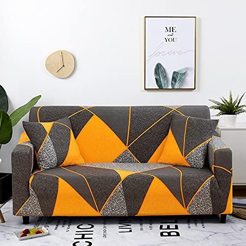 PPOS Funda de sofá elástica a Cuadros Fundas de sofá elásticas para Sala de Estar Funda de sofá para Silla D9 1 Asiento 90-140cm-1pc