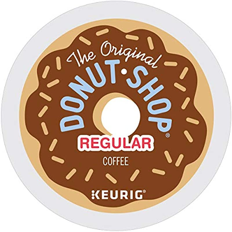 The Original Donut Shop Coffee Regular Medium Roast K Cup Portion Count For Keurig Brewers 24 Count Pack Of 4
