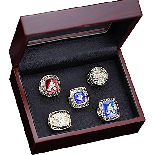 CLCL MLB 1991 1992 1995 1996 1999 Réplica del Anillo de Campeonato de Los Atlanta Warriors, Colección de Recuerdos para los Fanáticos de los Hombres de la Colección Regalo, 11#,with Box