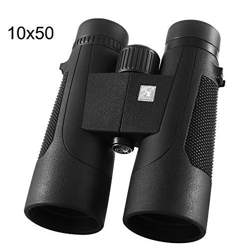 Portable 10X50 Jumelles Faible Niveau de lumière Vision Nocturne Jumelles étanches Professionnelles Bak4 Prisme Optique HD Zoom télescope pour Concert de Chasse en Plein air,10 * 42