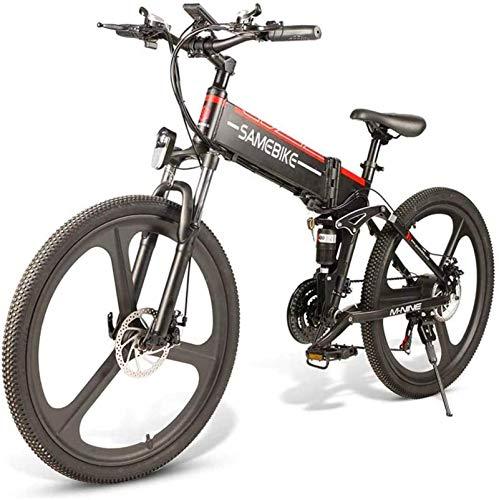 MQJ Ebikes Electric Bike para Adultos 26'E-Bike Plegable, E-Mtb, E-Mountainbike 48V 10.4Ah 350W Mountain Bike Shifts Tiph,48V / 10.4Ah / Negro,1