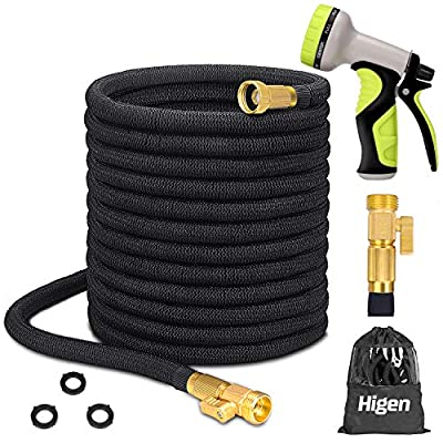 Higen 100ft Upgraded Expandable Garden Hose Set...