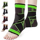 Set di 2 calze alla caviglia, tutore per caviglia da uomo e donna, con cinturino regolabile, calze a compressione per sport, calcio, fitness