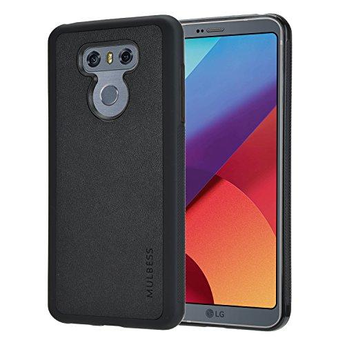 Mulbess Handyhülle für LG G6 Hülle, Shockproof Soft TPU Silikon Hülle Schutzhülle Handytasche für LG G6 Tasche, Schwarz