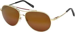 Montblanc - Mont Blanc Sunglasses Mb703S 32H-61-15-140 Gafas de sol, Dorado (Gold), 61 para Hombre