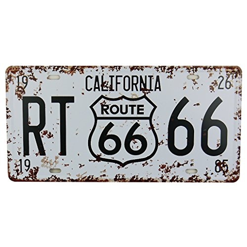 Magic show MS Route 66 Tin Poster Métal Home Bar Décor de plaque d'immatriculation en métal Blanc Sign Cj574-a