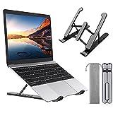 ZEINZE Soporte para computadora portátil, Soporte portátil Ajustable para computadora portátil, Soporte Plegable Antideslizante y Resistente a los arañazos, Soporte ergonómico
