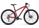 Diamondback Bicycles Overdrive Hardtail Mountain Bike with 27.5' Wheels, 18'/Medium, Red
