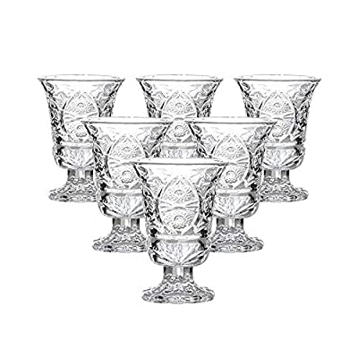 Round 1.5 Oz Shot Glasses, Lead-Free Glass, Clear Heavy Base Shot Glass Set of 6