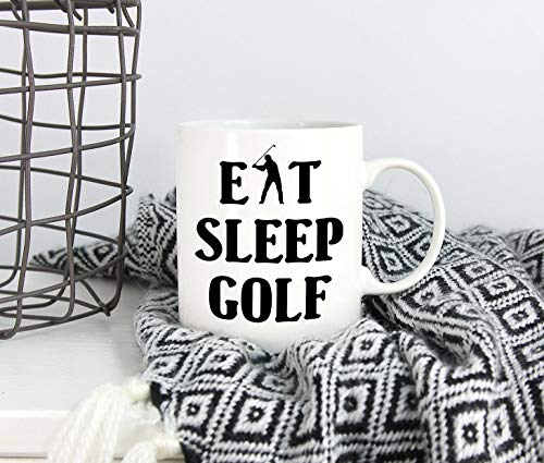 Thee Mok, Golfen Mok voor Papa Eet Slaap Golf Vaderdag Mok Papa Mok Koffiemok Vaderdag Gift voor Golfen Papa Golfen Papa Gift Alleen Een Mok