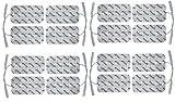 16 große axion Elektroden-Pads 10x5 cm - EMS-Training und TENS-Schmerztherapie