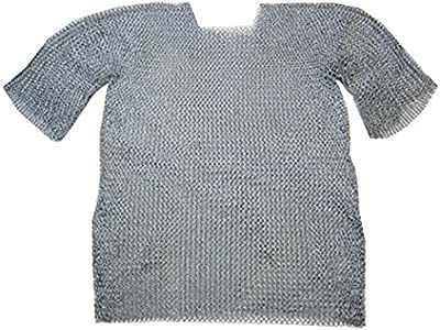 THORINSTRUMENTS (with device) Chainmail Shirt W/Full Sleeves Warriors Costume - Wearable Butted