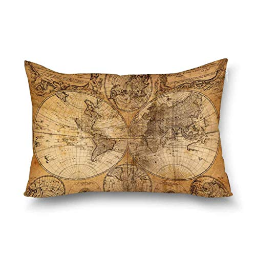 Funda de almohada con cremallera, protector de almohada para sofá de dormitorio, tamaño Queen 50 x 70 cm