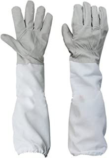 Novo Beekeeping Protective Gloves with Vented Sleeves 20-Inch X-Large,Grey and