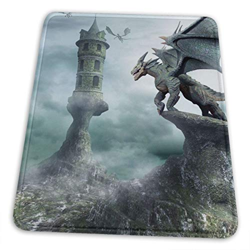 Imagine Dragons Smoke Mirrors Mouse Pad Non-Slip Gaming Mouse Pad with Stitched Edge Computer Pc Mousepad Rubber Base for Office Home 10x12 Inch ( 25x30cm)