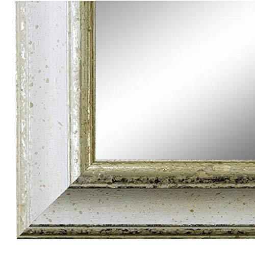 Online Galerie Bingold Spiegel Wandspiegel Badspiegel - Genua Weiß Silber 4,3 - handgefertigt - 200 Größen zur Auswahl - Antik, Barock - 50 x 140 cm AM