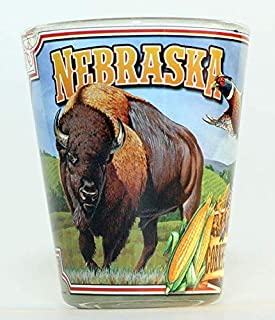 Nebraska State Mural Shot Glass JKS