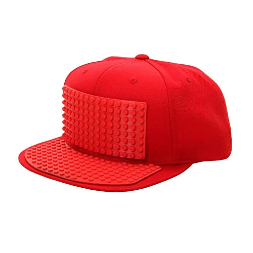 4d0bf061080 Bricky Blocks Red Snapback Hat for Kids and Adults by elope