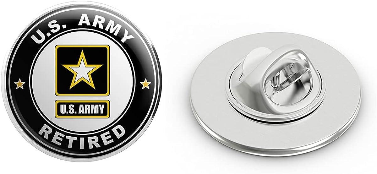 Veteran Pins US Army Retired Metal 0.75