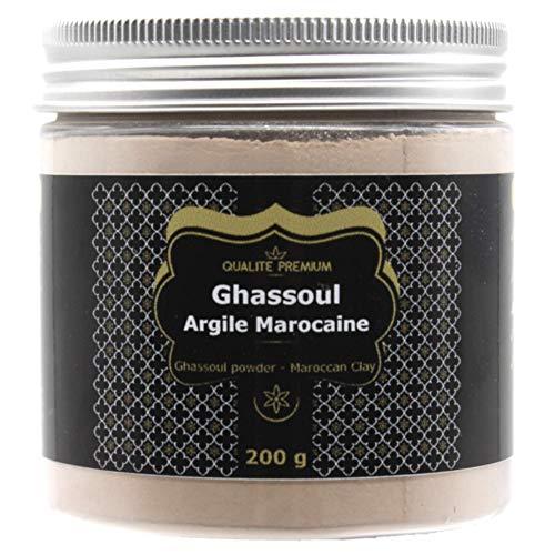 Rhassoul | Ghassoul Argile Bio Premium pour Masque Visage, Soin Cheveux, Gommage Visage, Masque Cheveux, Gommage Corps, Soin Naturel Poudre. Shampoing, Savon Ecologique.