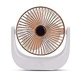 lytd Mini Ventilador, Mini Ventilador portátil de Mano para Exteriores, Carga USB de Escritorio de Oficina, para Reducir la sensación de sequedad Gold