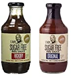 G Hughes Smokehouse Sugar Free BBQ Sauce, Hickory, 18 & SF Original 18 oz (Pack of 2)
