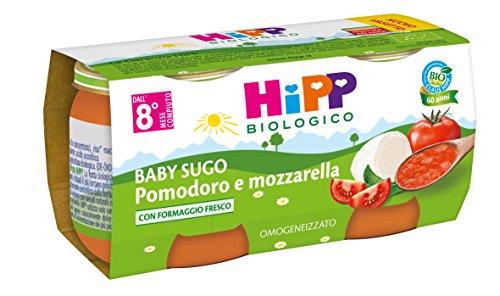 HiPP - Baby Sugo Bio, Gusto Pomodoro e Mozzarella, 24 Vasetti da 80 g