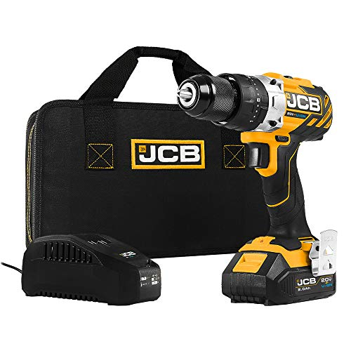 JCB Tools - JCB 20V Brushless Hammer Drill Driver - Includes 2.0Ah Battery - 2.4A Charger
