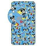 Unbekannt Disney Mickey Maus Bettlaken Kinder Spannbettlaken Größe: 90x200 cm 100% Baumwolle (Mickey Mouse)