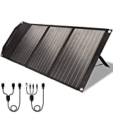 ROCKPALS RP081 60w Portable Solar Panel with Parallel Cable, Kickstand, USB-C and QC 3.0, Upgraded Foldable Solar Panel Charger...