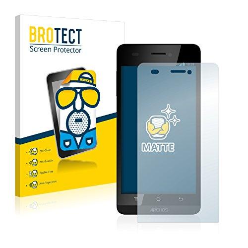 BROTECT 2X Entspiegelungs-Schutzfolie kompatibel mit Archos 50 Helium 4G Bildschirmschutz-Folie Matt, Anti-Reflex, Anti-Fingerprint