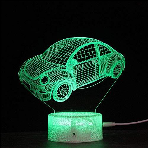 3D Illusionslampe LED Nachtlicht Mein Cartoon Auto Housekeeping Cars 7 Farben Ändern Baby Schlaf Tischlampe Home Decor Urlaub Kinder Geburtstagsgeschenk
