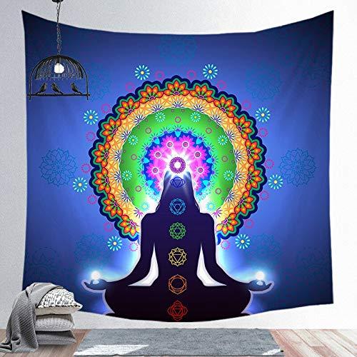KHKJ Tapiz de Mandala Indio, Colcha de Yoga, Colcha Hippie, decoración del hogar, Colgante de Pared, Tapiz de Toalla de Playa Bohemia A11, 200x150cm