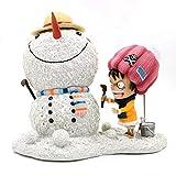 YHX One Piece, Escena de muñeco de Nieve, Nieve, Luffy, Showhand, Muñeco de Nieve de Sombrero de Paj...