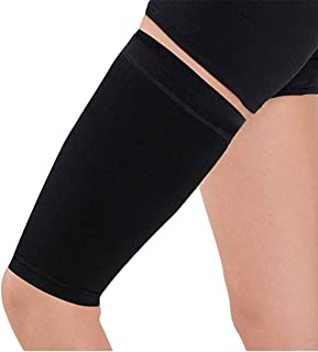 Thigh Compression Sleeve Body Shaper for Women Slimming Stovepipe Lose Buster Weight Loss Wrap Helps Tone Shape Thigh Muscle (Black)