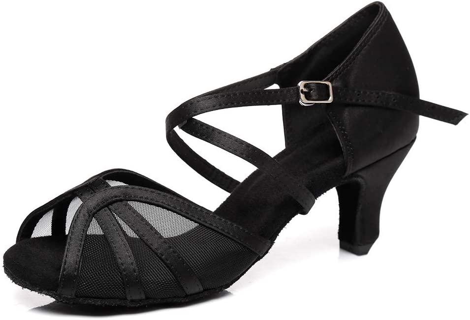 Women Latin Dance Shoes Elegant Leather Model-AF-453 Ballroom : Color B High quality new