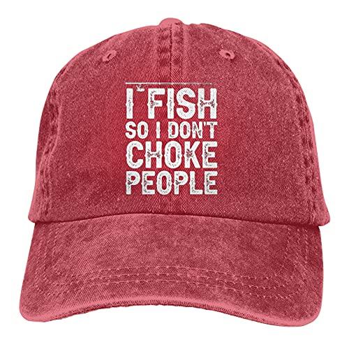 """Leumius Sombrero de pesca con texto en inglés """"I Fish So I Don"""