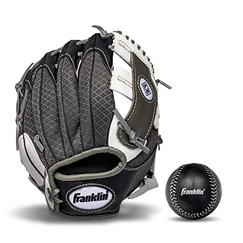 Franklin Sports Kids Baseball Gloves - Meshtek Child's Tball Glove + Ball Set - Boys + Girls Teeball...