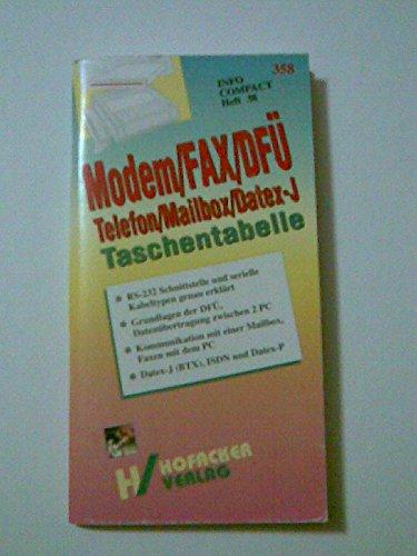 Modem, Fax, DFÜ Taschentabelle. Telefon / Mailbox / Datex- J