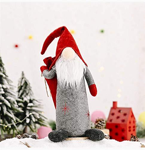 siyat Weihnachten gesichtslose Puppe Handgefertigte Lange Hut-Spielzeug Sankt-Puppe-Weihnachtsbaum Ornamente Dekorationen for Haus 01-A-Large, Farbe: 05-Boy Jikasifa-UK (Color : 01-b-small)