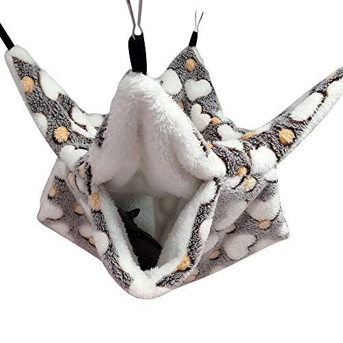 Sfit Nagetier Hängematte Warme Hamster Käfig Hängematte Haustier Decke Kleintierbett für Ratten, Hamster, Chinchillas und Eichhörnchen