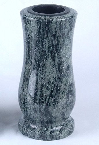 designgrab Vase funéraire taille moyenne en granit vert olive