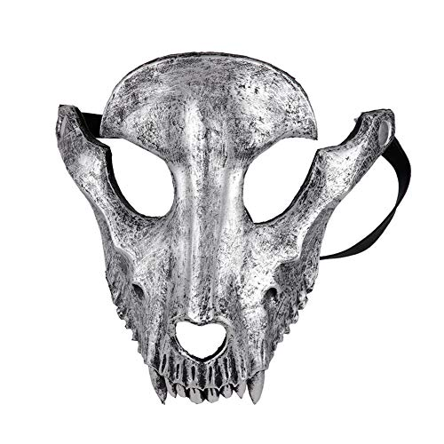 Ironhorse Mscara de Halloween con forma de crneo de cabra para Halloween, cosplay, fiesta de mascaradas, ovejas crneo mscara facial