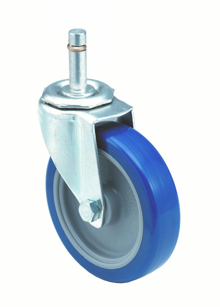 1-1//4 Wheel Width 5-1//2 Mount Height Polyurethane on Polyolefin Wheel Swivel 5 Wheel Dia 280 lbs Capacity Delrin Bearing 7//16 Stem Dia 1-3//8 Stem Height Wagner Stem Caster E.R