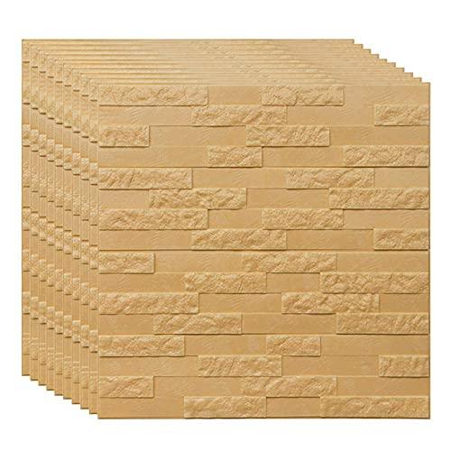 FTFTO Haushaltsgeräte White Brick 3D Wandpaneele Peel und Tapete für Wohnzimmer Schlafzimmer Hintergrund Wanddekoration 77cm x 70cm (30PCS)