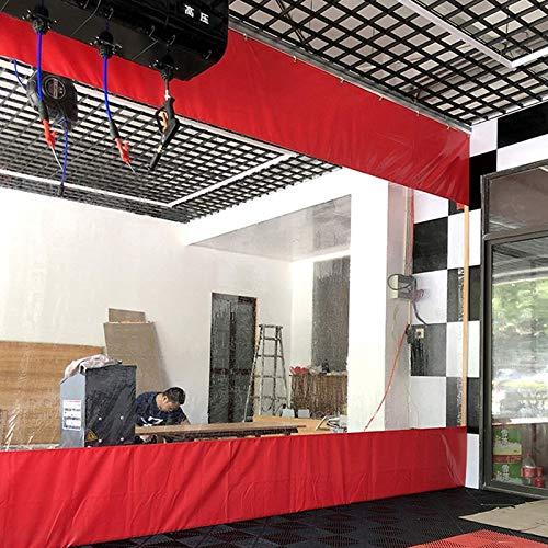 Lona alquitranada Panel Lateral de Carpa Resistente, Terrazas Cortinas Impermeables, Lona Revestida con Costura de Lona Transparente, PVC de 0,5 mm a Prueba de Viento, para Marquesinas, Cenador