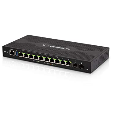 Ubiquiti Networks Commercial EdgeRouter 12P, 10-Port Gigabit Router with 24V PoE Support on RJ45 Ports and 2 SFP Ports (ER-12P)