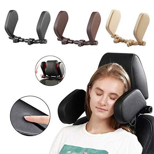 Compatible with Headrest Posts Ohwens Car Seat Side Pillow Headrest for Car Neck Support Detachable 180 Degree Adjustable Both Sides Headrest Neck Travel Sleeping Pillow for Kids Adults Sleeping