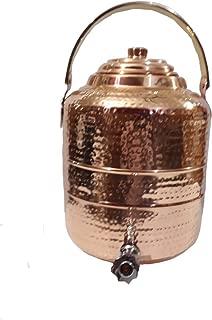 Copper 3.6 gal 13.6 ltr Water Pot Dispenser Storage Tank With Tap Kitchen Benefit Yoga