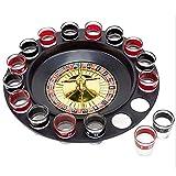 Ruota Della Roulette, XIANBAO Ruota Della Roulette in Legno Set Giradischi Giochi Da Tavolo Per Il Tempo Libero, 16 Tazze Giradischi Intrattenimento Per Roulette Forniture Per Giochi Di Vino